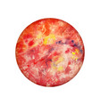 watercolor planet mercury on white background vector image vector image