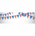 white banner with american flags vector image vector image