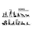 women doing exercises vector image vector image
