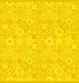 yellow geometric diagonal square mosaic tile vector image vector image