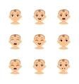 Baby emoticons and kid emoji set vector image