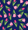 background with tulips Vintage seamless pattern vector image