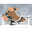 boxers in the ring vector image