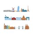 Travel places set vector image