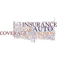 auto coverage analyzer text background word cloud vector image vector image