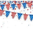 background with american flags and stars vector image