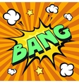 bang cartoon comic explosion vector image