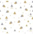 beautiful christmas print with christmas trees vector image vector image