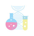 biology laboratory test tube dna molecule science vector image