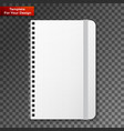 blank copybook template with elastic band vector image vector image