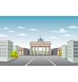 Brandenburg Gate of Germany vector image vector image