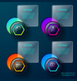 business hexagon pictograms background vector image vector image