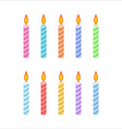 candles for birthday cake isometric style vector image