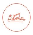 Cargo container ship line icon vector image vector image