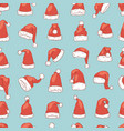 christmas santa claus hat noel isolated vector image vector image