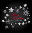 christmas special silver red wallpaper vector image vector image