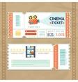 Cinema Tickets Set vector image vector image