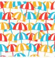colorful beach umbrellas seamless pattern summer vector image