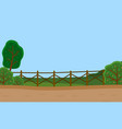 countryside rural country road green trees and vector image vector image