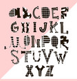 creative hand drawn alphabet with textures vector image vector image