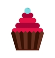 Cupcake icon in flat style vector image vector image