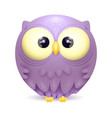 cute little owl character vector image