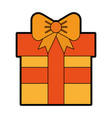 cute orange gift cartoon vector image vector image
