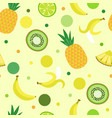 decorative seamless background of fruits and eleme vector image vector image