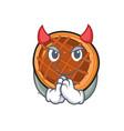devil baket pie mascot cartoon vector image vector image