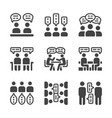 discussion icon set vector image vector image