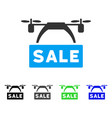 drone sale banner flat icon vector image vector image