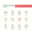 Esoteric - line design icons set vector image vector image