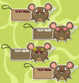 Four cute cartoon rats stickers vector image vector image