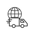 global delivery icon flat vector image