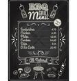 Grill Menu Chalkboard vector image vector image