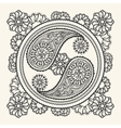 Hand drawn yin-yang sign vector image