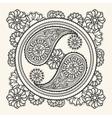 Hand drawn yin-yang sign vector image vector image