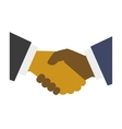 Handshake Icon on White Background Flat Design vector image vector image