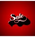 handwritten Sale retro label vector image vector image