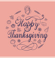 happy thanksgiving day concept background simple vector image vector image