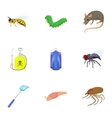 Harmful insects icons set cartoon style vector image vector image