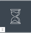 hourglass related line icon vector image