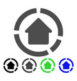house diagram flat icon vector image vector image