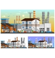 Industrial Buildings Orthogonal Compositions Set vector image vector image