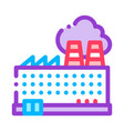 industrial plant building thin line icon vector image