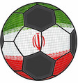 iran flag with soccer ball background vector image