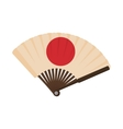 Japanese fan icon cartoon style vector image vector image