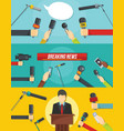 journalism news banner concept set flat style vector image