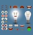 light bulb emoji maker emoticon creator vector image