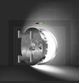 light half-open door safe steel vector image vector image